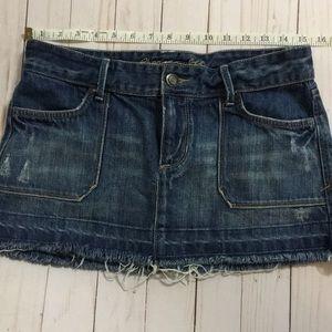 Abercrombie Jean Mini Skirt